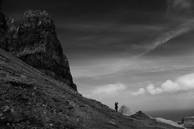 Andrea Miller (my sister) at the Quiraing on Skye
