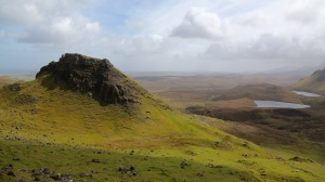 Hiking up to the Quiraing on Skye